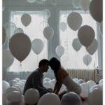 balony z helem na sesje fotograficzna