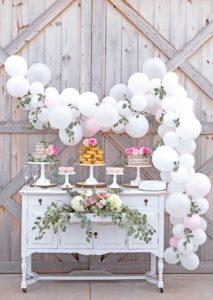 dekoracje słodkich kącików, dekoracje balonowe, balony z helem
