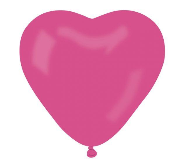 balon serce różowe