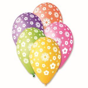balony Gemar w kwiatki
