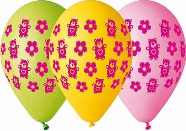 balony Gemar w misie i kwiaty