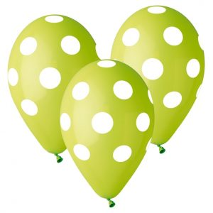 balony Gemar zielone w grochy