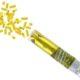 konfetti pneumatyczne 20 cm złote paski