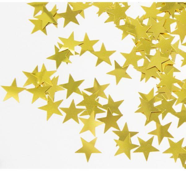 konfetti zlote gwiazdki 20 g