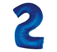 cyfra 2 niebieska 85 cm