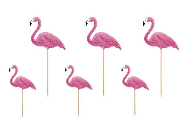 toppery flamingi, toppery na tort, toppery do ciastek, toppery do muffinek
