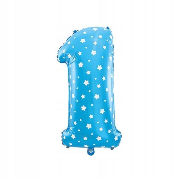 balon foliowy cyfra 1 niebieska