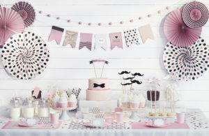 dekoracja candy-bar, dekoracje urodzinowe