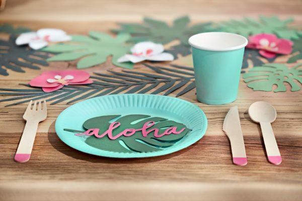 dekoracje hawaii, dekoracje urodzinowe, dekoracje candy-bar, wyzytówki na stół