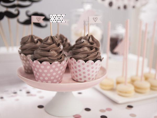 flagietki na piku do muffinek, dekoracje do muffinek, dekoracje candy-bar