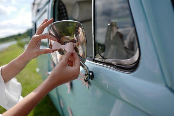 kokardki papierowe do dekoracji auta na ślub, prezentow, pudełeczek z podziękowaniem