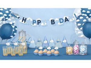 słomki do napojów z motywem samolotu, słomki na przyjęcie urodzinowe dla malucha