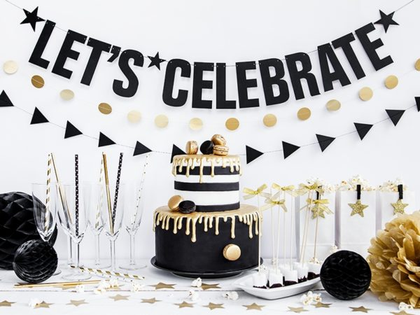 słomki papierowe do napojów candy-bar, nowy rok, sylwester