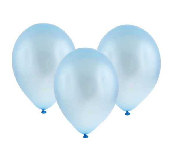 błękitne metaliczne balony 5''
