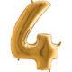 balon foliowy cyfra 4 złota