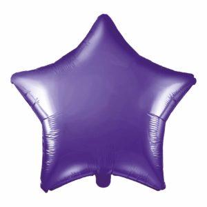 balon foliowy gwiazdka, fiolet 48 cm, balony i dekoracje balonowe, balonowe bukiety, balony z helem