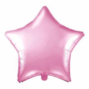 balon foliowy gwiazdka, pudrowy róż 48 cm, balony i dekoracje balonowe, balonowe bukiety, balony z helem