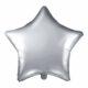 balon foliowy gwiazdka, srebrna 48 cm, balony i dekoracje balonowe, balonowe bukiety, balony z helem