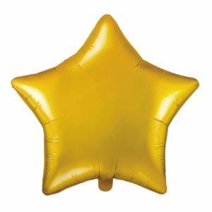 balon foliowy gwiazdka, złota 48 cm, balony i dekoracje balonowe, balonowe bukiety, balony z helem