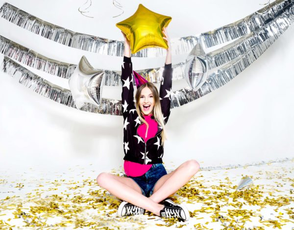 balon foliowy gwiazdka złota, 48 cm, balony i dekoracje balonowe, balonowe bukiety, balony z helem