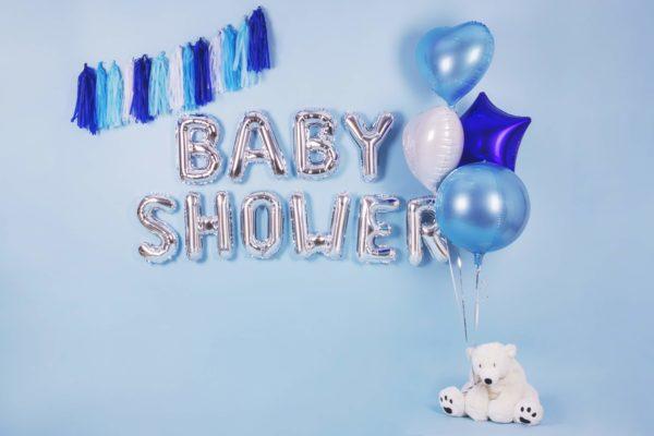 balon foliowy serce, błękitny, biały, gwiazdka niebieska 48 cm, balony i dekoracje balonowe, balonowe bukiety, balony z helem