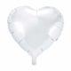 balon foliowy serce, biały 48 cm, balony i dekoracje balonowe, balonowe bukiety, balony z helem
