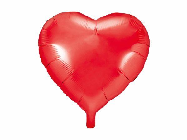 balon foliowy serce, czerwony 48 cm, balony i dekoracje balonowe, balonowe bukiety, balony z helem