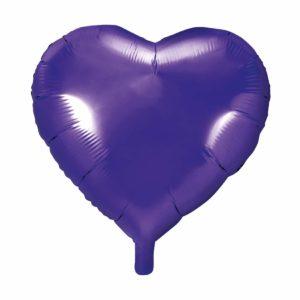 balon foliowy serce, fiolet 48 cm, balony i dekoracje balonowe, balonowe bukiety, balony z helem