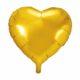 balon foliowy serce, złoty 48 cm, balony i dekoracje balonowe, balonowe bukiety, balony z helem