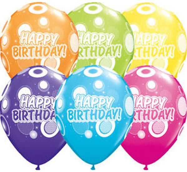 balony happy birthday, qualatex