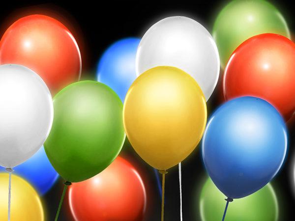 balony led, kolorowe 30 cm