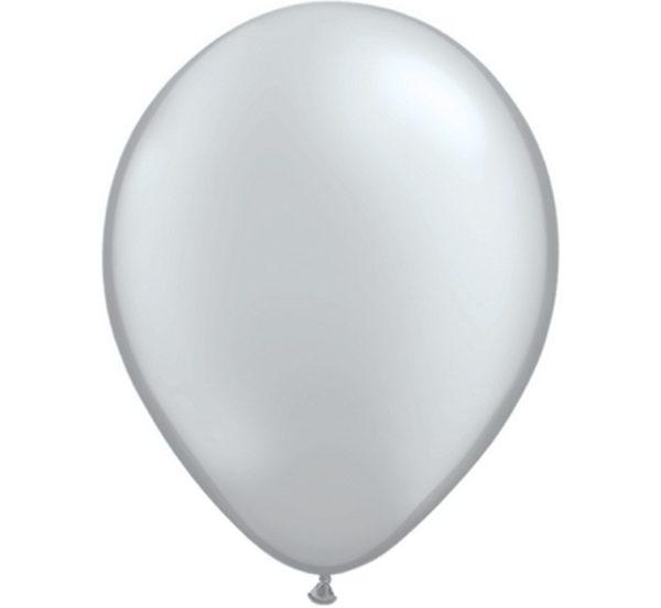 balony metaliczne srebrne 5''