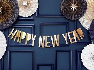 baner na Nowy Rok, dekoracje noworoczne
