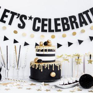 baner na przyjęcie, napis na imprezę, baner na sylwestra, baner urodzinowy, girlanda