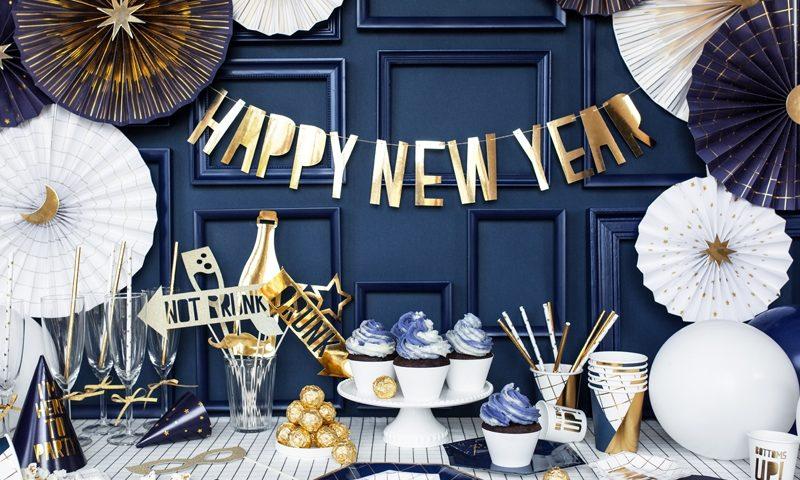 baner noworoczny, baner sylwestrowy, sylwester, nowy rok