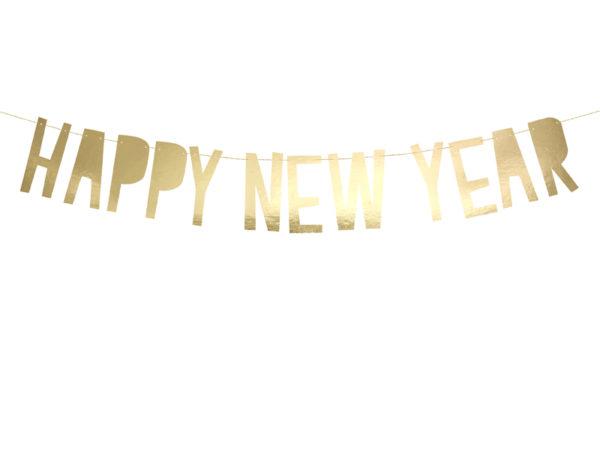 baner noworoczny happy new year złoty