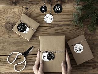bileciki na prezenty, zawieszki na prezenty świąteczne