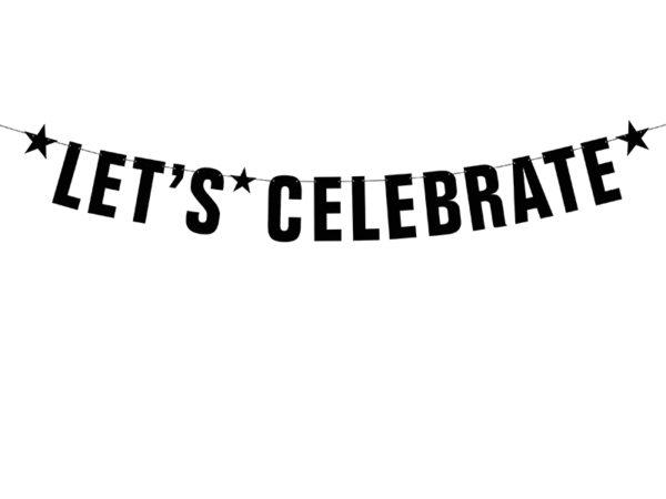 czany zawieszany napis na przyjęcie, czarny baner urodzinowy, baner na 30-ste urodziny, dodatki na urodziny