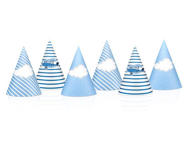 czapeczki urodzinowe, czapeczki samolocik, czapeczki na urodziny
