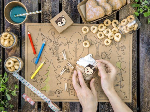 drewniane dekoracyjne klamerki, naturalne drewno