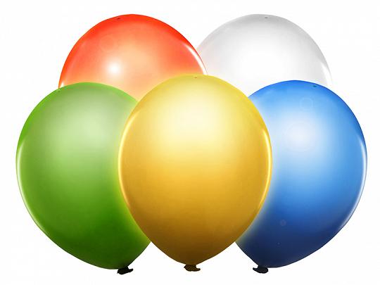 kolorowe balony z diodą led, balony led 30 cm