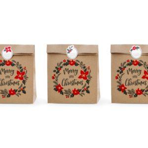 torebki świąteczne na prezenty, torebki bożonarodzeniowe, christmass bags