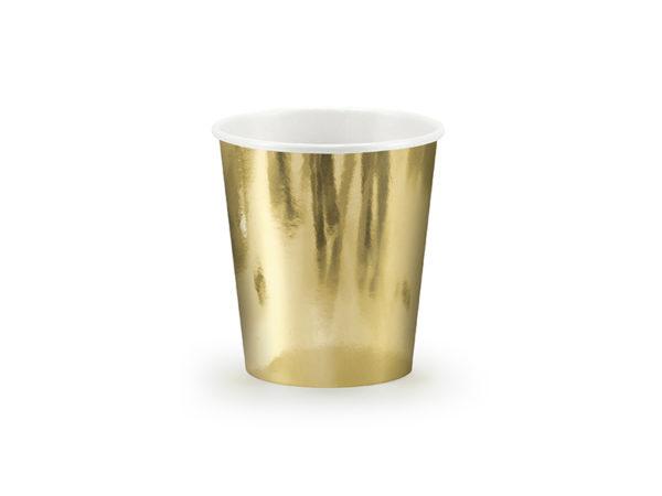 złote kubeczki jednorazowe, złote kubeczki do napojów