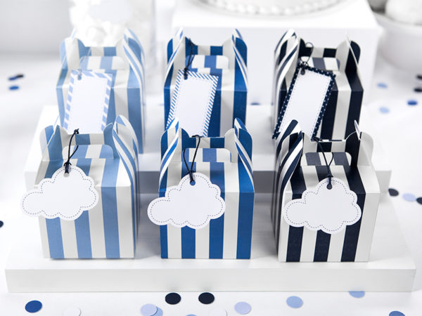 zawieszki chmurka, zawieszki urodzinowe, dekoracje urodzinowe dla chłopca