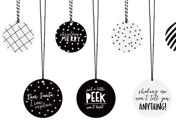 zawieszki na prezenty, dekoracyjne zawieszki na prezenty