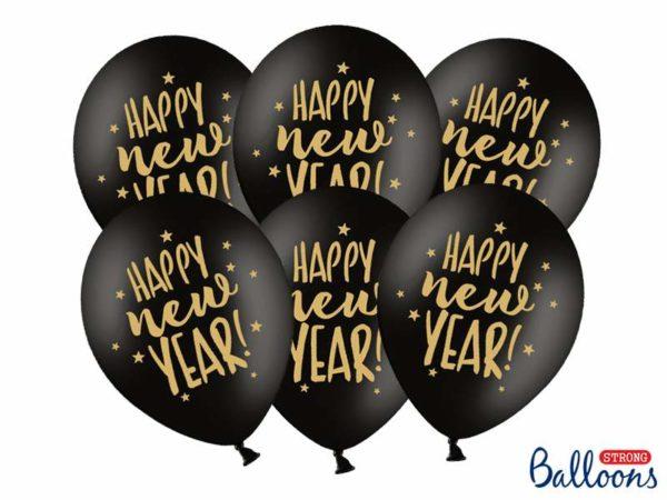 balony 30 cm happy new year