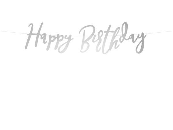 baner happy birthday srebrny