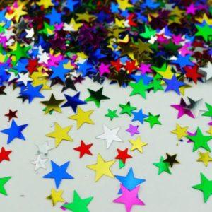 konfetti gwiazdki kolorowe