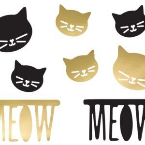 dekoracje papierowe kotek, dekoracje urodzinowe kotek, dekoracje stołu kotek