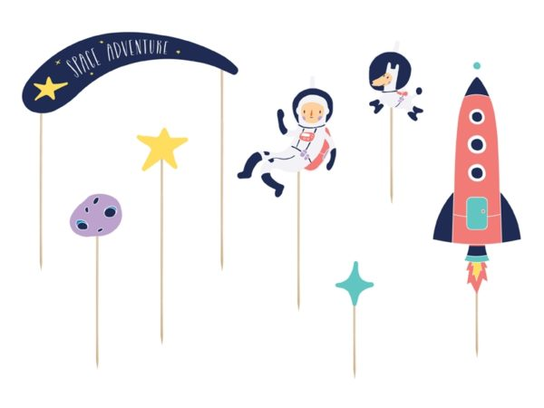 dekoracje urodzinowe dla chłopca, dekoracje, topper na tort urodzinowy kosmos, dekoracje urodzinowe kosmiczne, dekoracje urodzinowe do muffinek kosmos, karnawałowe dla dzieci
